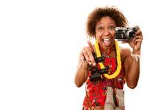 Afrikaans-Amerikaanse Toerist royalty-vrije stock afbeeldingen