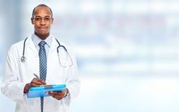 Afrikaans-Amerikaanse zwarte artsenmens royalty-vrije stock foto