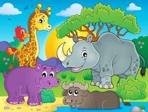 Afrikaans beeld 3 van het faunathema Royalty-vrije Stock Afbeelding