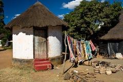 Afrikaans cultureel dorp Stock Afbeeldingen