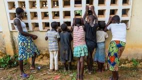 Afrikaans dorp royalty-vrije stock fotografie