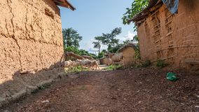 Afrikaans dorp stock foto