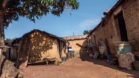 Afrikaans dorp royalty-vrije stock afbeeldingen