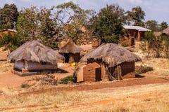 Afrikaans dorp Royalty-vrije Stock Foto