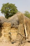 Afrikaans dorp in Ghana royalty-vrije stock foto