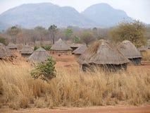 Afrikaans dorp in Mozambique Stock Afbeeldingen