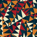 Afrikaans driehoeks naadloos patroon Stock Afbeelding