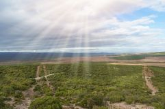 Afrikaans enorm landschap van bushveld en weide royalty-vrije stock fotografie