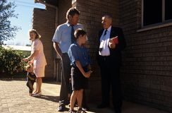 Afrikaans family going to church Royalty Free Stock Photos