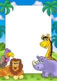 Afrikaans frame met dieren 3 Royalty-vrije Stock Afbeelding