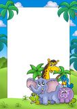 Afrikaans frame met groep dieren Royalty-vrije Stock Fotografie