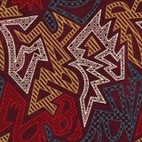 Afrikaans Geometrisch Patroon royalty-vrije illustratie