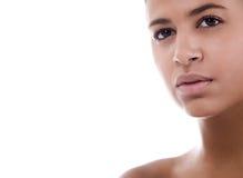 Afrikaans gezicht met copyspace Royalty-vrije Stock Fotografie