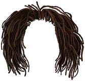 Afrikaans haar dreadlocks hairstyle Royalty-vrije Stock Afbeelding