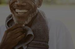 Afrikaans Hoger het Park in openlucht Concept van de Mensenoefening Royalty-vrije Stock Afbeeldingen