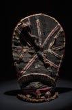 Afrikaans houten geïsoleerd masker Stock Foto's