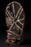 Afrikaans houten geïsoleerd masker Royalty-vrije Stock Foto