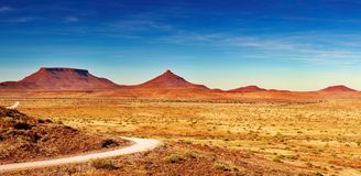 Afrikaans landschap, Damaraland, Namibië Stock Foto's