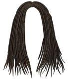 In Afrikaans lang haar dreadlocks De stijl van de manierschoonheid Royalty-vrije Stock Afbeeldingen