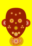 Afrikaans masker Royalty-vrije Stock Afbeelding