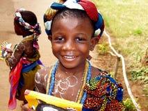 Afrikaans meisje - Ghana royalty-vrije stock afbeelding