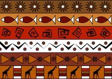 Afrikaans naadloos patroon Stock Afbeelding