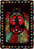 Afrikaans omzoomd masker stock illustratie