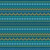 Afrikaans patroonontwerp in rijen Royalty-vrije Stock Foto