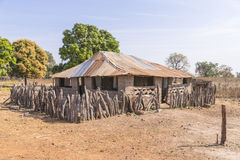Afrikaans plattelandshuisje royalty-vrije stock foto