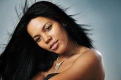 Afrikaans Spaans model royalty-vrije stock afbeelding