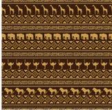 Afrikaans stijl naadloos patroon met wilde dieren. Stock Fotografie