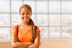 Afrikaans universiteitsmeisje royalty-vrije stock afbeelding