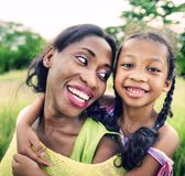 Afrikaans van de de Vakantievakantie van het Familiegeluk de Activiteitenconcept Royalty-vrije Stock Afbeelding