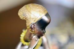 Afrikaans Vrouwenstandbeeld Royalty-vrije Stock Afbeeldingen