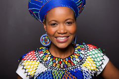 Afrikaans zulu meisje Stock Foto