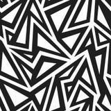 Afrikaans zwart-wit naadloos patroon Stock Afbeeldingen
