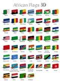 Afrikaanse 3D landen Stock Illustratie