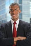 Afrikaanse Amerian-Zakenman Smiling Stock Foto