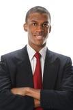 Afrikaanse Amerian-Zakenman Smiling Royalty-vrije Stock Foto