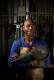 Afrikaanse Amerikaan met hoekmolen stock afbeelding