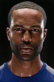 Afrikaanse Amerikaanse Atleet Portrait With Blank Expre royalty-vrije stock fotografie