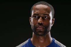 Afrikaanse Amerikaanse Atleet Portrait With Blank Expre royalty-vrije stock afbeeldingen