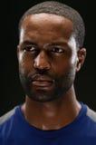 Afrikaanse Amerikaanse Atleet Portrait With Blank Expre stock fotografie