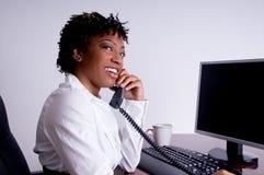 Afrikaanse Amerikaanse BedrijfsVrouw stock afbeeldingen