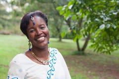 Afrikaanse Amerikaanse Bruid Royalty-vrije Stock Afbeeldingen