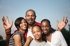 Afrikaanse Amerikaanse familie Royalty-vrije Stock Foto