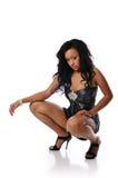 Afrikaanse Amerikaanse jonge maniervrouw Stock Foto's