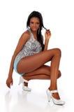 Afrikaanse Amerikaanse jonge maniervrouw Stock Afbeelding