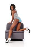 Afrikaanse Amerikaanse jonge maniervrouw Royalty-vrije Stock Afbeelding