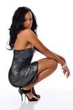 Afrikaanse Amerikaanse jonge maniervrouw Royalty-vrije Stock Fotografie